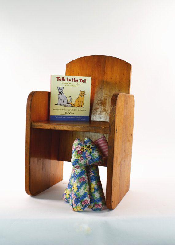 Wooden Childs Chair, Handmade Wood Chair, Kids Reading ...