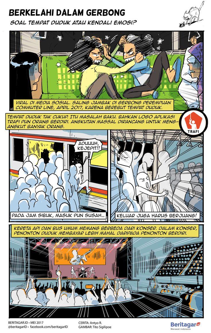 KETERBATASAN | Angkutan massal akan terlalu mewah jika semua orang harus duduk. Kereta (yang diharapkan) cepat, sejuk, aman, dan menempuh perjalanan tak sampai 60km, diandaikan bisa membuat penumpang rela berdiri jika tak beroleh tempat duduk. Orang yang terangkut akan jauh melebihi kapasitas bangku.