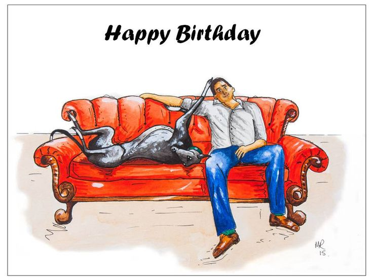 7 best Greyhound Birthday Cards images – Italian Birthday Card