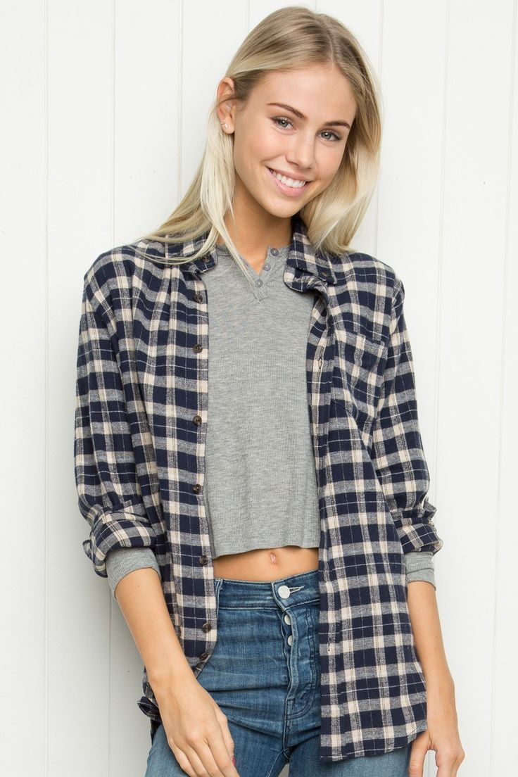 Brandy ♥ Melville   Wylie Flannel - Tops - Clothing