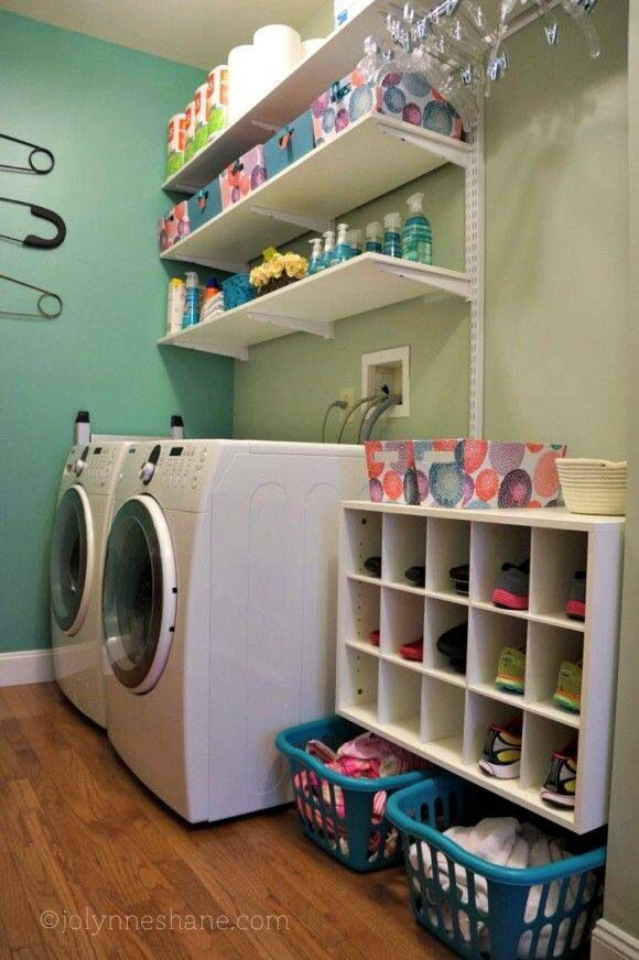 Elegant For A Mud Room/ Laundry Room Combo