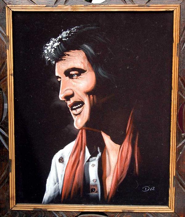 Black Velvet Elvis – Artist Unknown