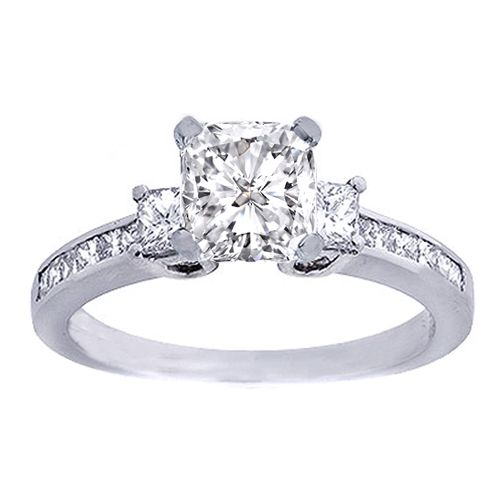 Three-Stone-Princess-Cut-Diamond-Rings