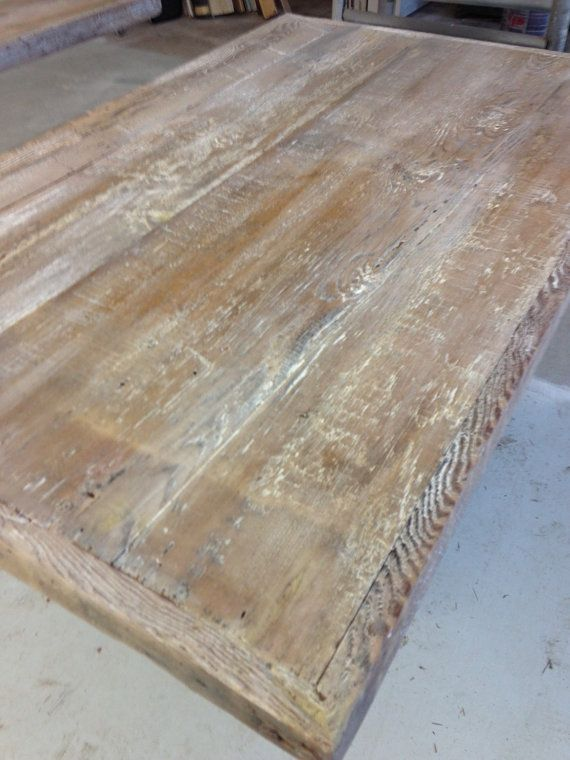 Reclaimed Wood  rustic bar table top  coffee bar table top. Best 25  Wood table tops ideas on Pinterest   Wood tables  Wood