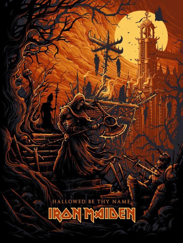 "Iron Maiden ""Hallowed Be Thy Name"" artist: Dan Mumford   Maiden   Pinterest   Dan mumford"