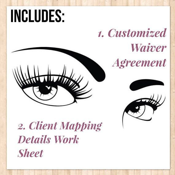 Eyelash Extensions Consent Form Client Waiver Agreement Pestañas