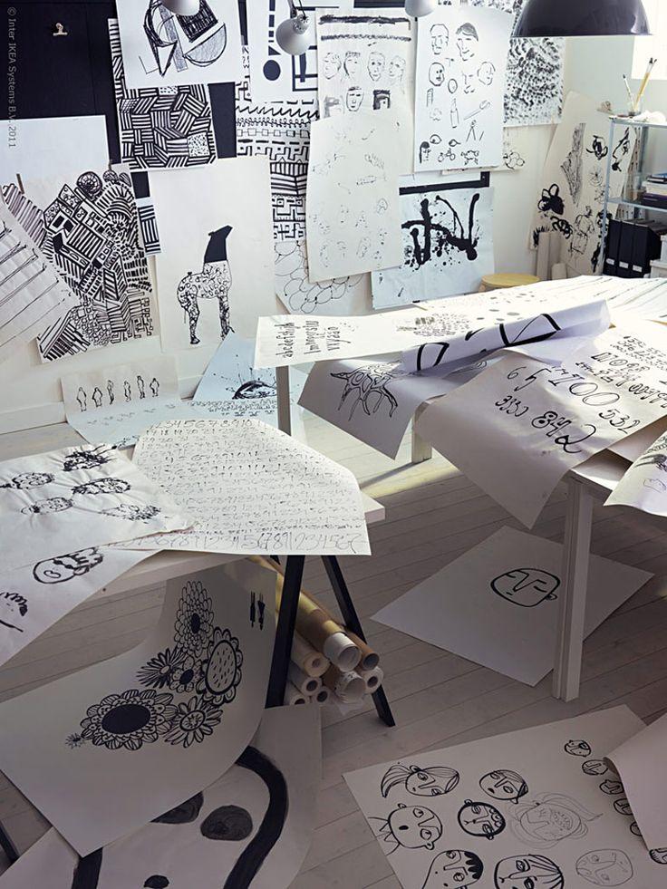 Från skisser vid skolbänken till textil till salu i 38 länder.I en workshopskapadestudenter på Beckmans Designhögskola i Stockholmtextiliertillsammans medIKEA.
