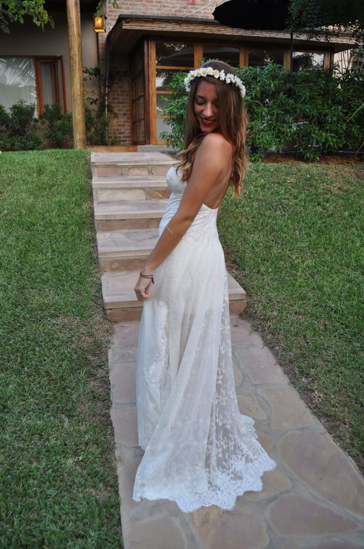 Hippie chic Wedding dress
