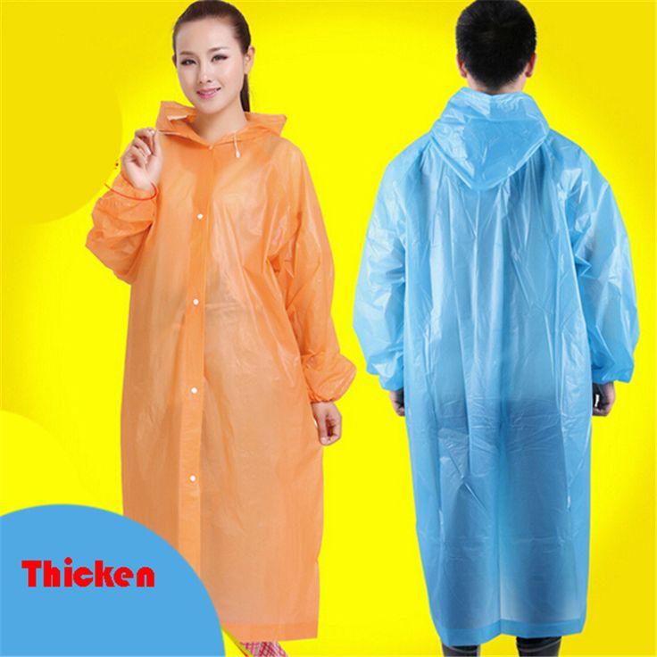 Transparent Hooded Raincoat Women Long Poncho Impermeable Para Lluvia Waterproof Rain Regen Men Rainwear Disposable QQG561