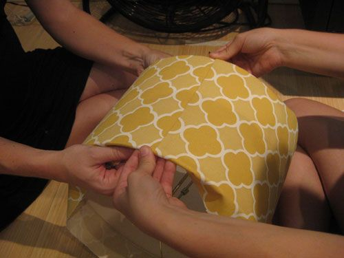 Covering a lampshade how-to