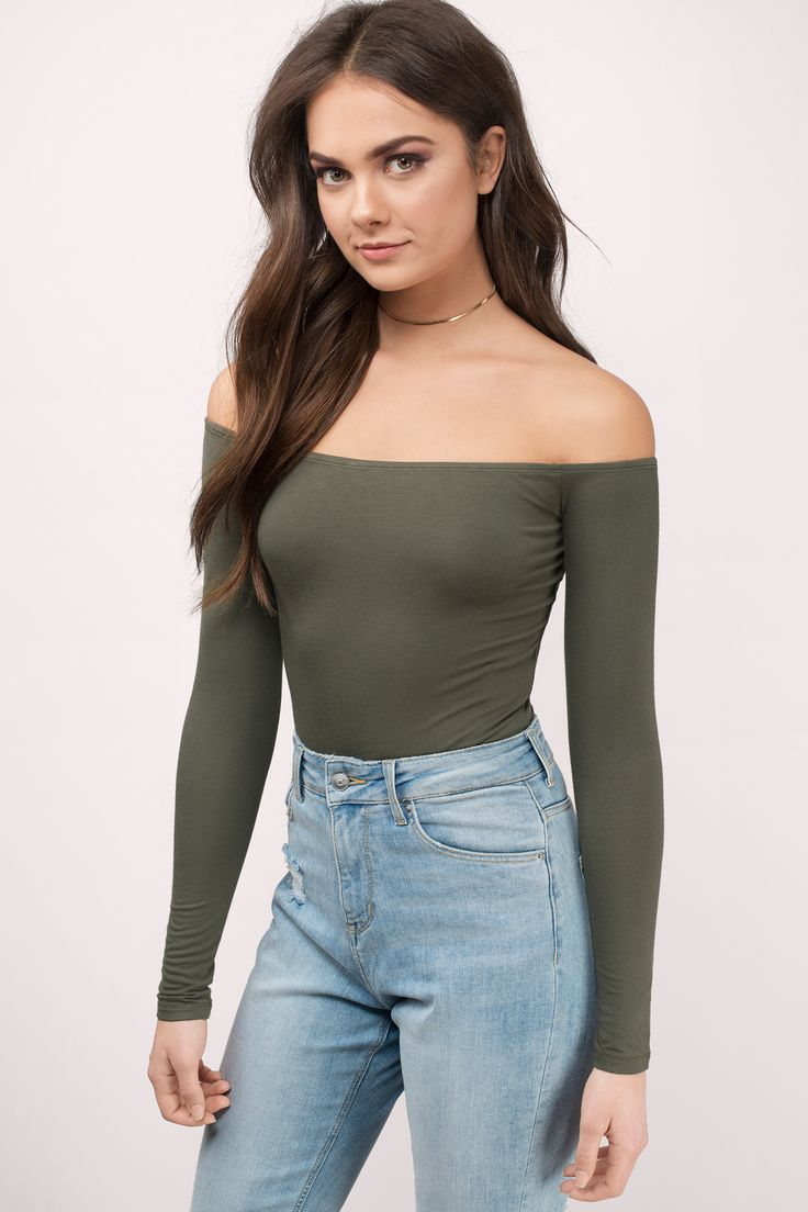 You can't go wrong with the Cosette Off Shoulder Bodysuit. Featuring an off shoulder bodysuit. Pair with a skirt and heels.