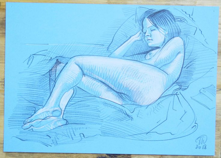colored pencil, sketches, nude, paper