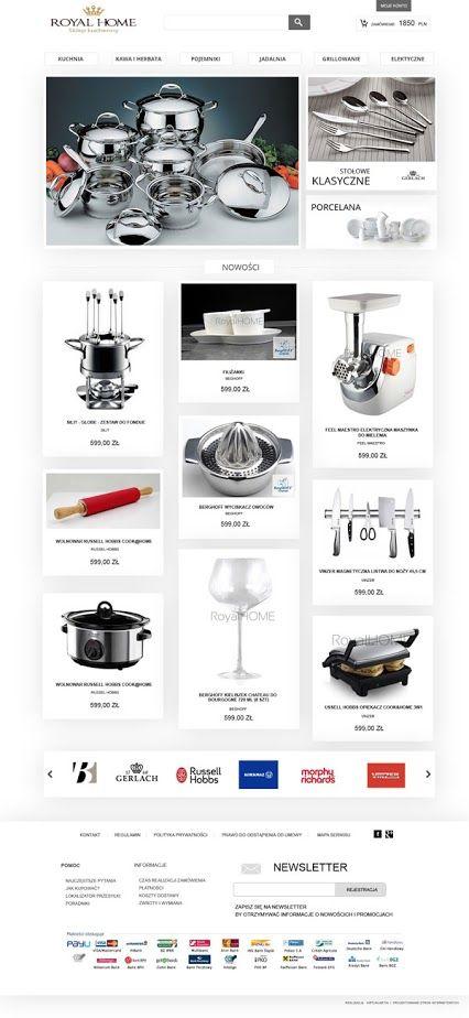 Webdesign - kitchen online shop www.sklep-kuchenny.pl/ #sklep #webesign #onlinestore #onlineshop #kuchnia #www