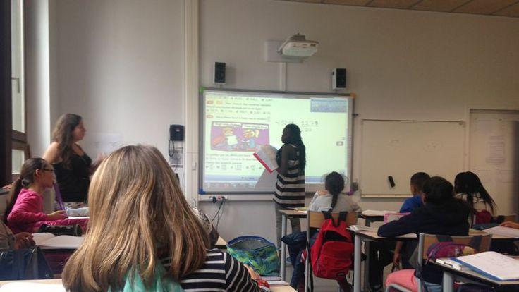 Un cours de mathématiques à l'école 2.0 [REPORTAGE- Alors que se tient à l'Elysée une réunion interministérielle sur l'école numérique, Le Figaro s'est rendu dans un collège du 18ème arrondissement de Paris converti à la révolution numérique].