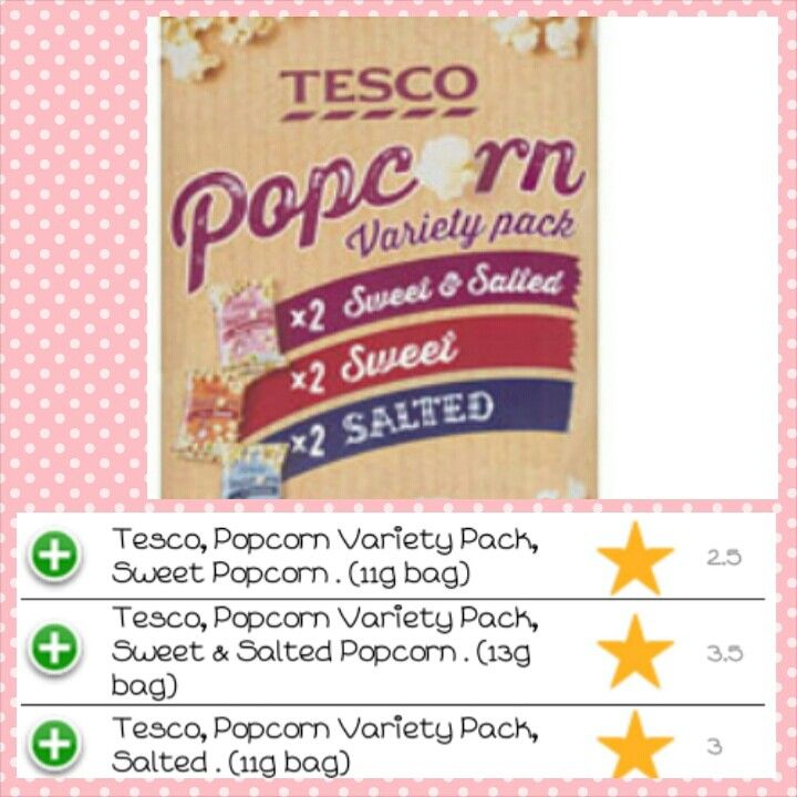 Tesco Popcorn Multi pack syns