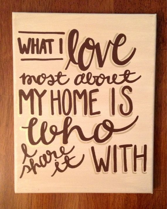 Home Quote Canvas - what i love most about my home is who i share it with - kalligraphy designs on etsy