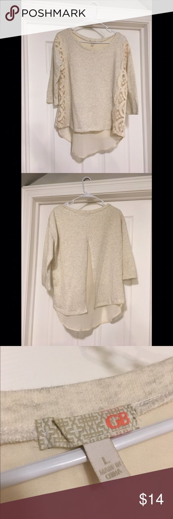 GB women's top Super cute GB women's top. Cream color. Size large. Never worn. Purchased from Dillard's. Tops