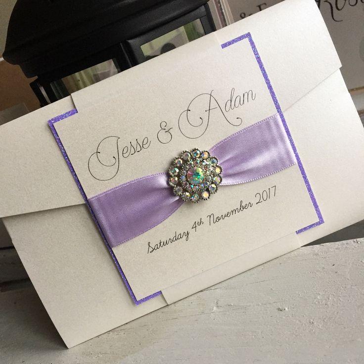 Lilac Wedding Invitation Lilac Wedding Invite