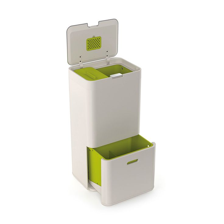 MUM DAD £175 - The Joseph Joseph Totem is a new concept of waste management for your home. Occupying the same space as a regular kitchen bin, the Totem offers multiple units for both general waste and recycling. ...
