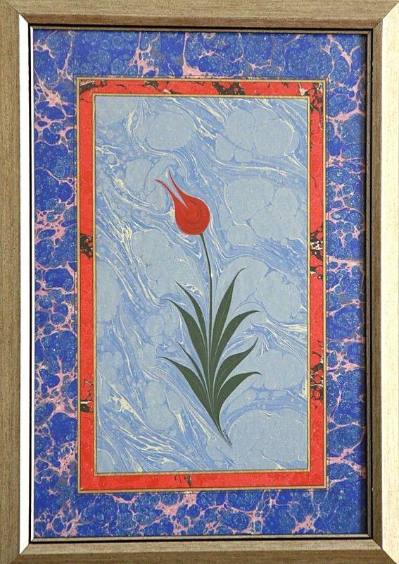 EBRU ATÖLYESİ - Çiçekli Ebrular Galerisi -