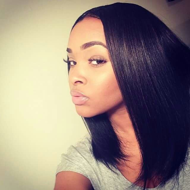Hairstyles For Straight Relaxed Hair : Relaxed hair hairstyles sew in creative black