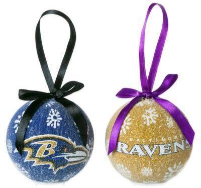 NFL Baltimore Ravens LED Lighted Christmas Ornament Set (Set of 6)   #nfl #ravens #baltimore #christmas