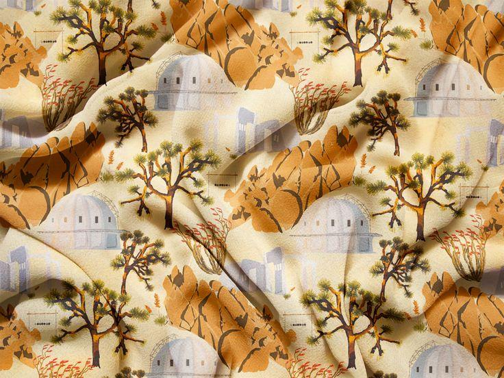 NEW! Joshua Tree print! #JoshuaTree #desert #California #spoonflower #print #fabric