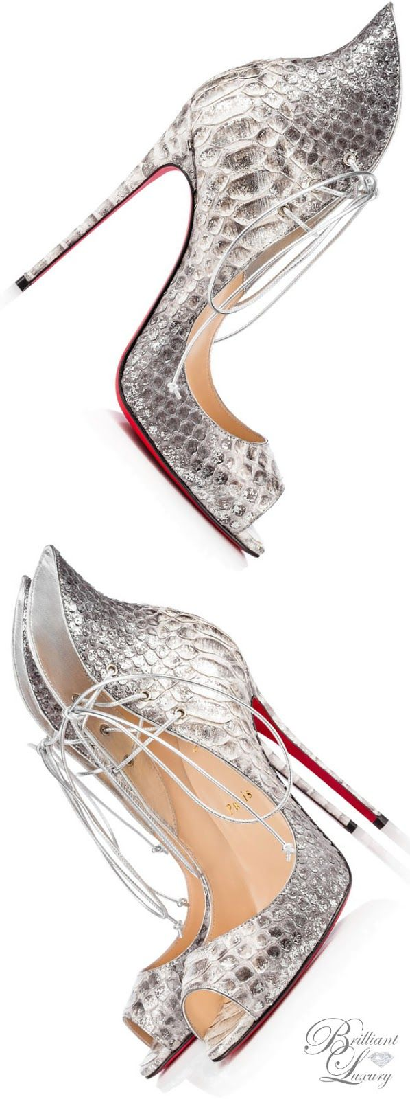 Brilliant Luxury by Emmy DE ♦ Christian Louboutin 'Megavamp' Python Br…
