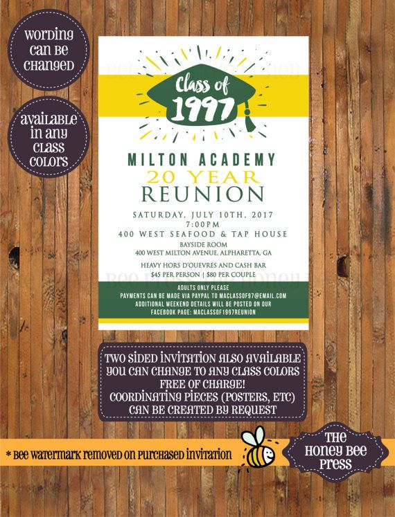 The 25+ best Class reunion invitations ideas on Pinterest - class reunion invitation template