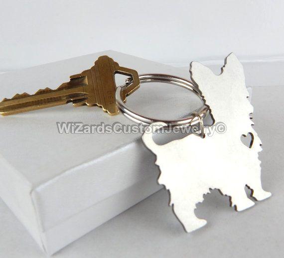 Yorkshire Terrier Keychain Custom Made by WiZardsCustomJewelry