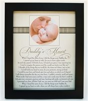 Daddy's Heart Poem Home Decor from The Grandparent Gift Co. A great Valentine's Gift Idea for Dad from The Grandparent Gift Co.!