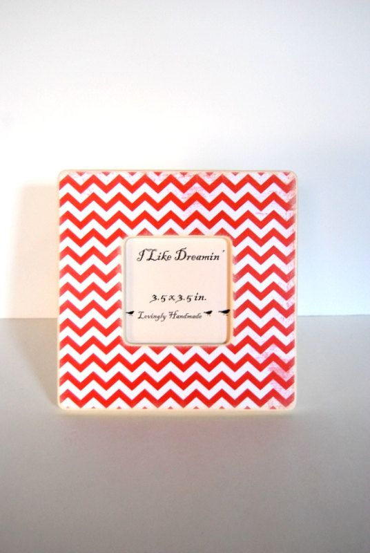 Red Chevron Picture Frame cutest frame shop