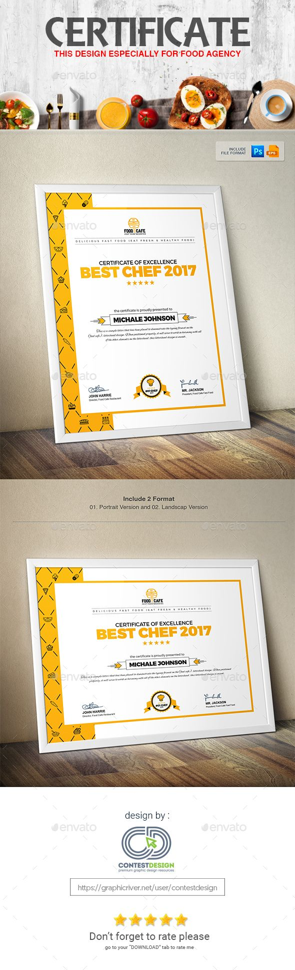 Certificate Design Template PSD, Vector EPS, AI Illustrator