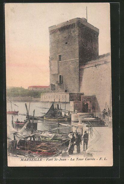 formidable CPA Marseille, Fort St-Jean, La Tour Carree | Collections, Cartes postales, France: Provence, Côte-d'Azur | eBay!