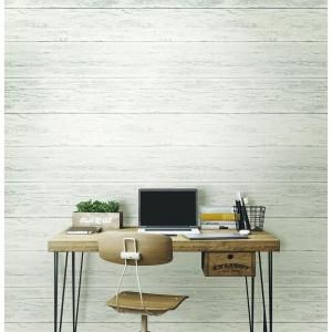 NuWallpaper 30.75 sq. ft. Shiplap Peel and Stick Wallpaper NU2187 at The Home Depot - Mobile