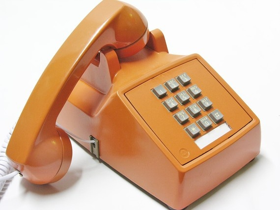 love.orange.retro.phone. #phone #retro #orange