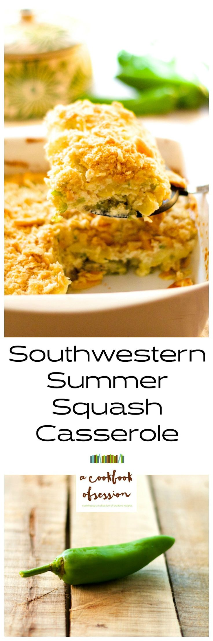 Southwestern Summer Squash Casserole is a new spin on an old Southern classic you're going to love!