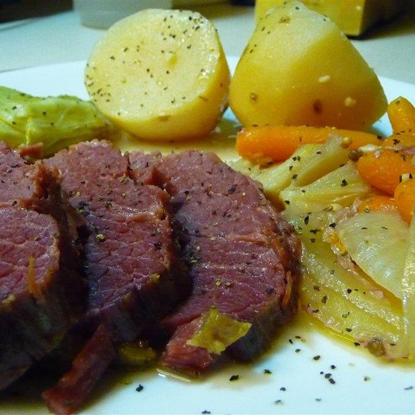 "Beef and Cabbage | ""This corned beef and cabbage recipe is quick ..."