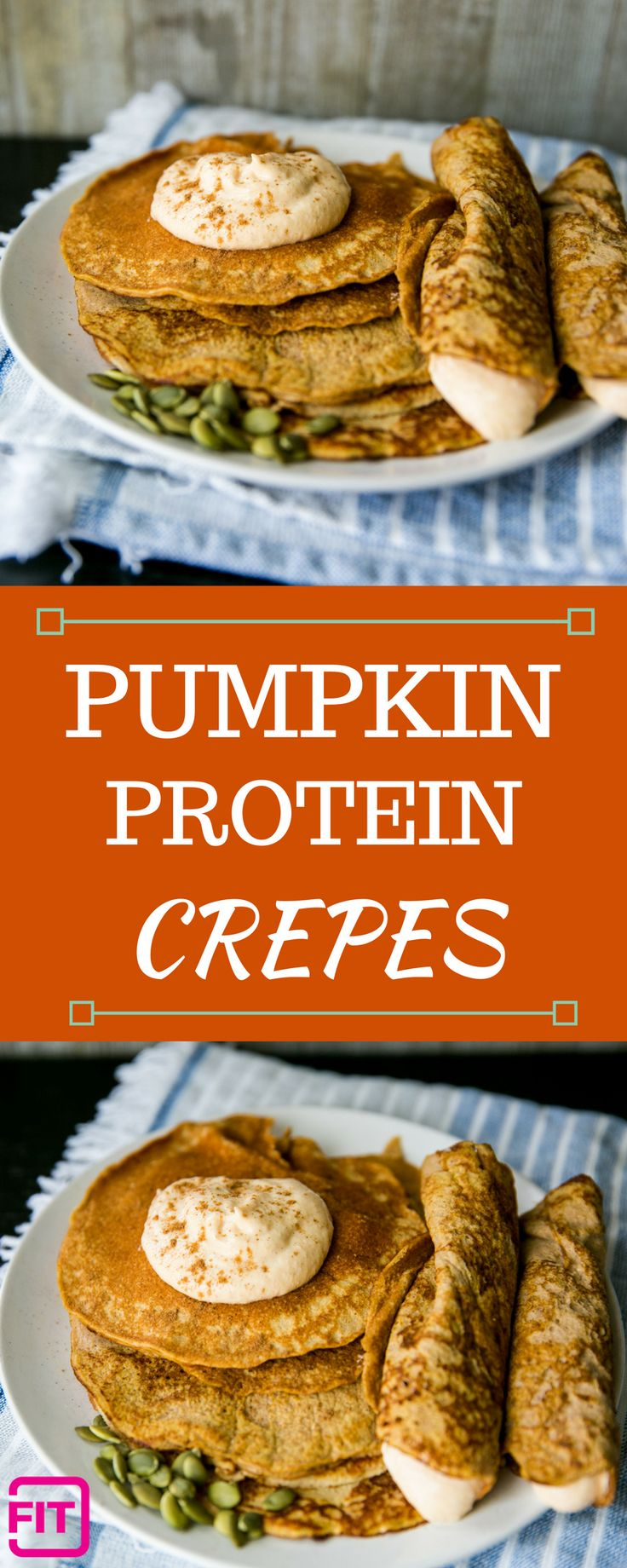 Pumpkin Protein Crepes
