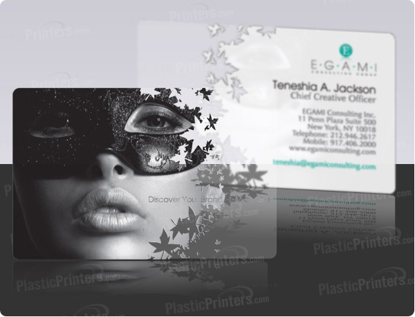 The 25 best clear business cards ideas on pinterest transparent plastic clear business card very cool you can see through and can be print in both reheart Choice Image