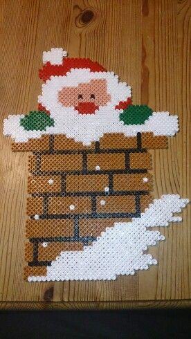 Santa Claus - Christmas hama perler beads by Susanne Damgård Sørensen