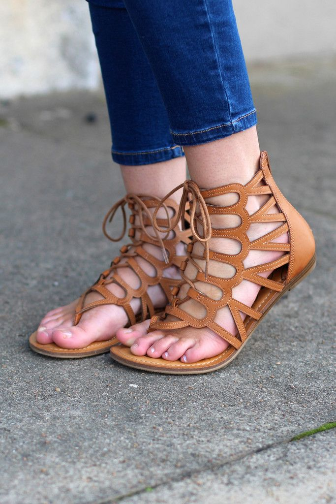 The Salina Sandal {Cognac} | The Fair Lady Boutique #sandals #gladiators #cognac
