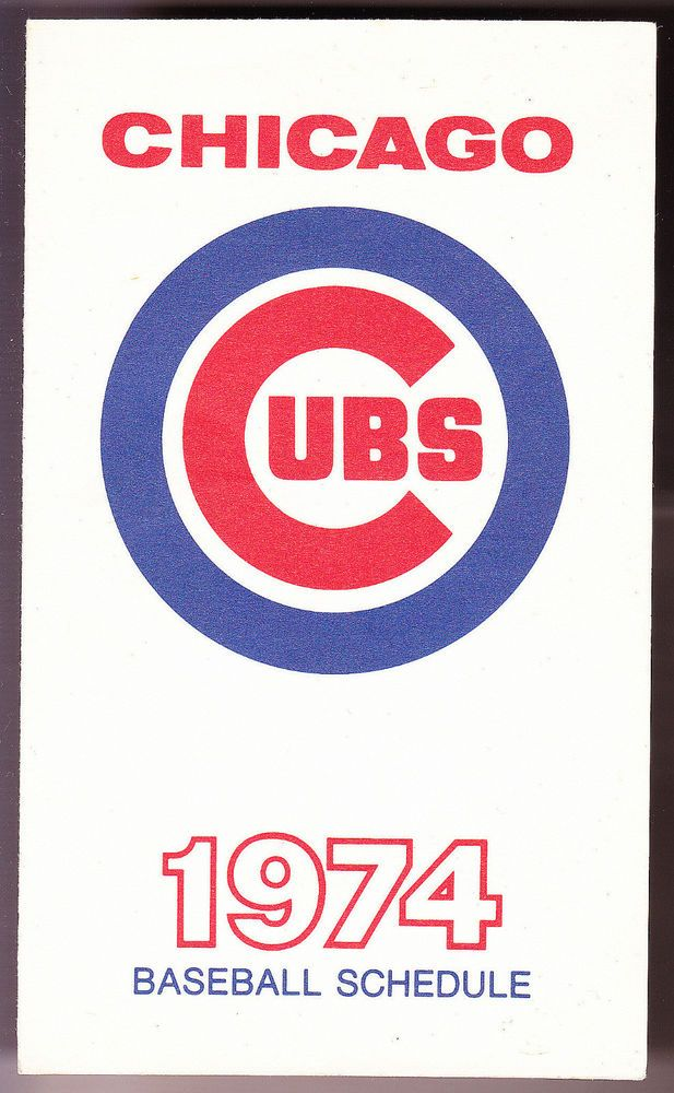 1974 CHICAGO CUBS OLD STYLE BEER 3 X 5 INCH BASEBALL SCHEDULE FREE SHIPPING