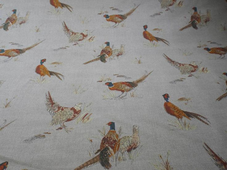 How about a blind for the landing window in this or the chickens fabric?
