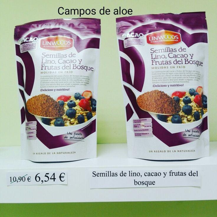 40% descuento en las semillas de lino, cacao y frutas del bosque. Queda en 6,54€ www.camposdealoe.es