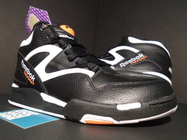 f0a7532b839f REEBOK PUMP OMNI LITE DEE BROWN SLAM DUNK BLACK WHITE ORANGE J15298 10.5