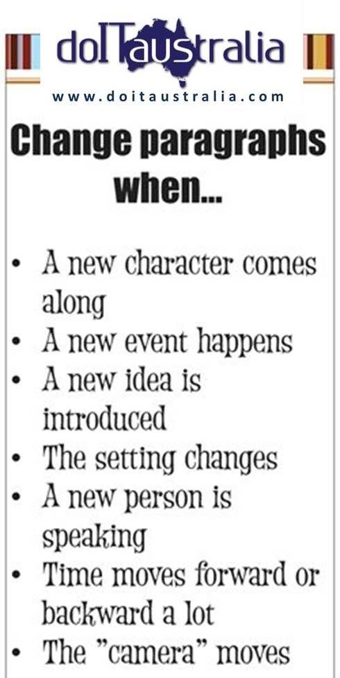 le regole sul cambiare paragrafo