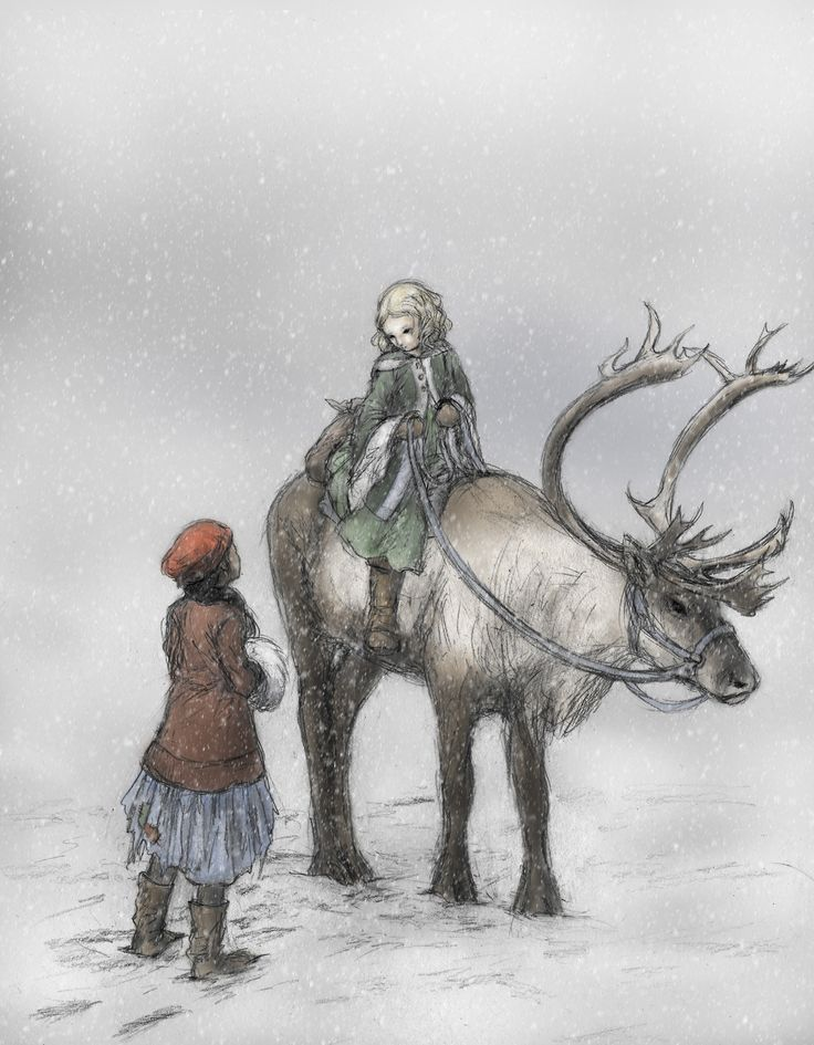 """""""The Snow Queen"""", by Hans Christian Andersen Fifth Story, The Little Robber Girl"""