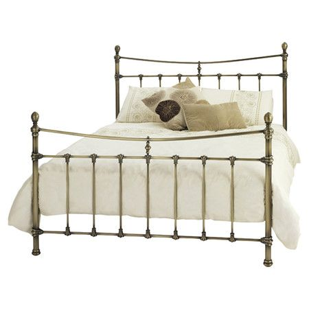 Channelling classic design influences, this metal bed frame features an antique brass finish, perfect for adding glamorous elegance to any scheme. ...