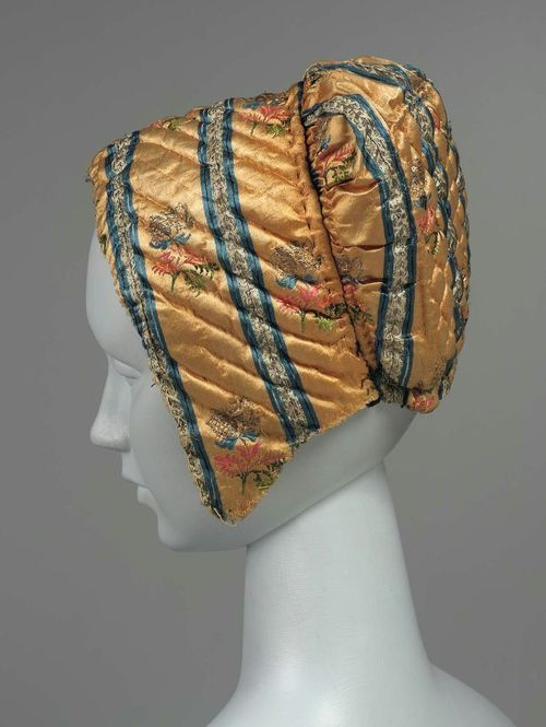 Quilted cap, Spanish or Italian, 18th century, The Museum of Fine Arts, Boston